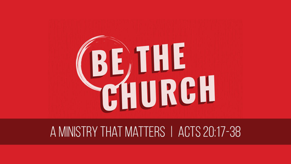 A Ministry That Matters